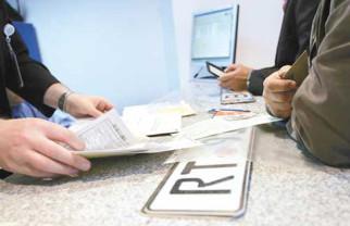 Înregistrarea şi radierea autoturismelor - Documentele, înregistrate la ghişeul de pe Republicii