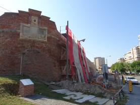 Stadiul lucrărilor de reabilitare a zidurilor Cetății Oradea