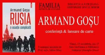 Armand Goşu la Oradea - Conferinţă şi lansare de carte