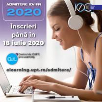 Admitere 2020 - învățământ la distanță la Universitatea Politehnica din Timișoara
