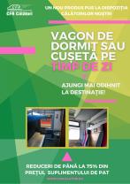 Vagoane de dormit sau cușetă și pe timp de zi - Serviciu nou la CFR