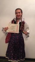 """Festivalul-concurs """"Cântă, cântă, gură scumpă"""", la Beiuș - Bianca Popa, câștigătoarea Premiului I"""