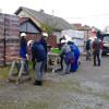 Elevi români și danezi, Voluntari la Habitat