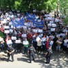 """Angajații ce depind de CJ Bihor au ieșit în stradă - """"Ratele nu au culoare politică"""""""