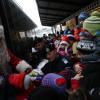 Moş Crăciun soseşte la Oradea cu trenul