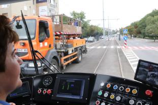 De luni, 23 august, tramvaiele nu mai circulă în Nufărul-Cantemir - Patru luni în şantier