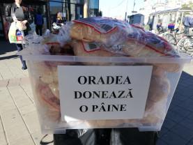 """Un gest mic pentru unii, un gest enorm pentru alții! - """"Oradea donează o pâine"""""""