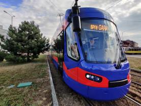 A sosit al șaptesprezecelea tramvai Imperio - După probe, pe traseu