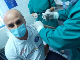 Conducerea Prefecturii Bihor - Vaccinată la Spitalul Militar
