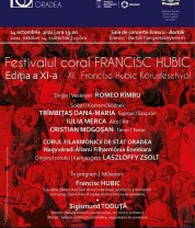 Joi, 14 octombrie - Festivalul coral Francisc Hubic