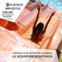 11 vouchere la Aquapark-ul Nymphaea - Recompensă pentru plata online a impozitului