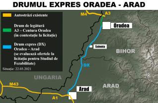 Drumul Expres Oradea - Arad, proiectul tehnic - A fost desemnat câștigătorul licitației