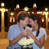 Tânărul magician Eduard a cerut-o pe Bianca de soție în Piața Unirii