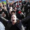 Confruntări violente între manifestanţi şi poliţie în Bruxelles