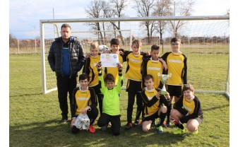 De pe podimul Cupei Satelor, pe Naţional Arena - Echipa de copii din Sânmartin la meciul România-Spania