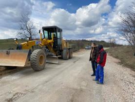 Drumul județean dintre Aștileu și Roșia - Lucrări realizate în proporţie de 45%