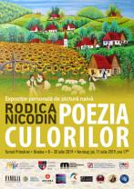 O nouă expoziţie de artă naivă în Turnul Primăriei - Rodica Nicodin în vernisaj