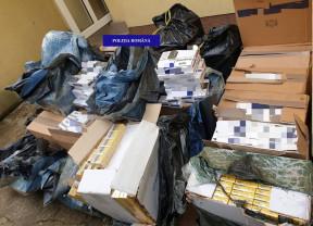 Un bărbat a fost prins cu sute de mii de pachete de ţigări nemarcate - Reţinut pentru contrabandă