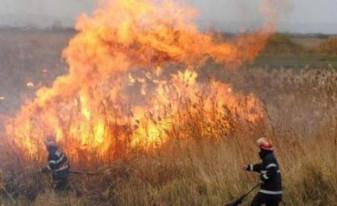 10 incendii de vegetație uscată în doar patru zile - Nu mai dați foc pășunilor!