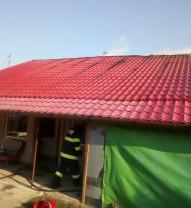 Pompierii militari au lichidat incendiul în 40 de minute - Incendiu de la o afumătoare, în Chișirid