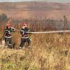 Opt incendii de vegetație uscată produse în prima zi a săptămânii - Hectare întregi au fost afectate