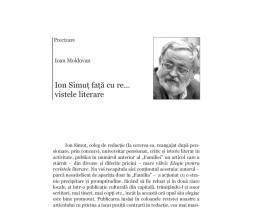 Precizare - Ion Simuţ faţă cu re...vistele literare