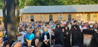 De praznicul Schimbării la Față a Domnului - Binecuvântare pentru pelerini la Mănăstirea Izbuc