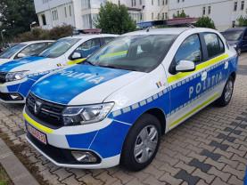 S-a mai redus din deficitul de autovehicule de la nivelul structurilor operative -  Autoturisme noi în dotarea poliţiştilor bihoreni