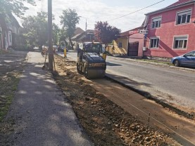 Lucrările de reparații pe strada Muntele Găina - Se apropie de finalizare