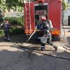 Pompierii orădeni, pregătiţi şi pentru protejarea patrimoniului - Exerciţiu la Muzeul Ţării Crişurilor
