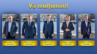 Agenda politică - Împărţirea mandatelor în judeţul Bihor