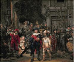 """""""Rondul de noapte"""" de Rembrandt - Pictură restaurată în public"""