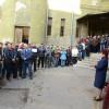 Poşta Română paralizată de proteste. Poștașii orădeni au ieșit în curtea instituției - A doua zi de proteste