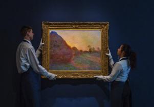 """""""Căpițele"""" lui Monet, cel mai scump tablou impresionist"""