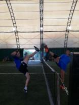 Tenis cu piciorul - Bihorenii pe primele locuri în etapa de la Dumbrăviţa