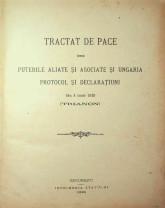 Varianta originală a Tratatului de la Trianon - Disponibilă oricărui român