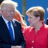 """Trump susţine că a avut o întâlnire """"extraordinară"""" cu Angela Merkel - Preludiu nervos, final """"happy"""""""
